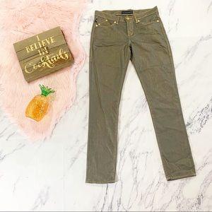 Rock & Republic Berlin Gold Wash Skinny Jeans 8